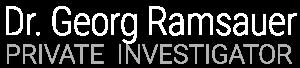 Privatdetektiv Dr. Georg Ramsauer Logo